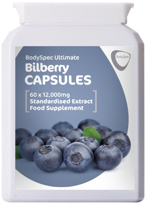 Bilberry standardised extract for heathy eyes