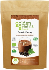 Organic Energy with Maca, Cacao, Hemp Protein and Lucuma.